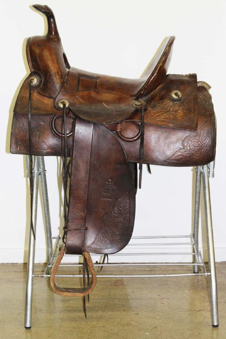 ca 1910 Great West Saddlery Co. saddle - 3