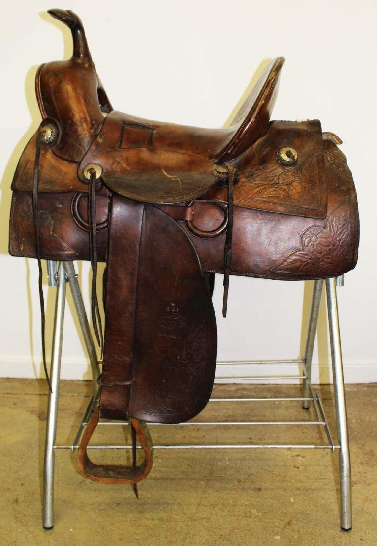 ca 1910 Great West Saddlery Co. saddle - 5