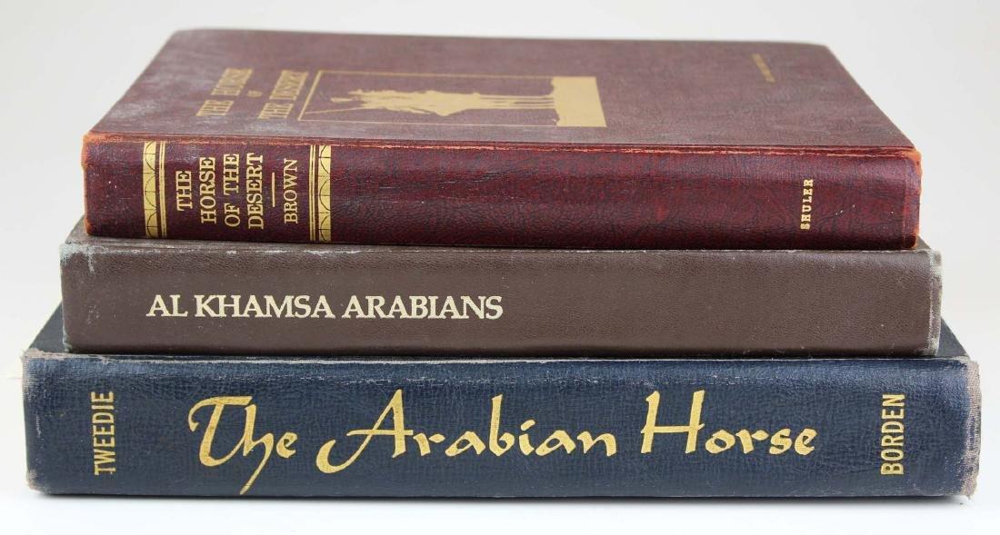 three reference books on Arabian horses