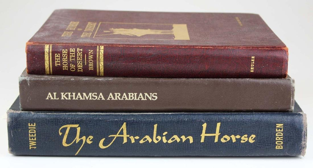 three reference books on Arabian horses