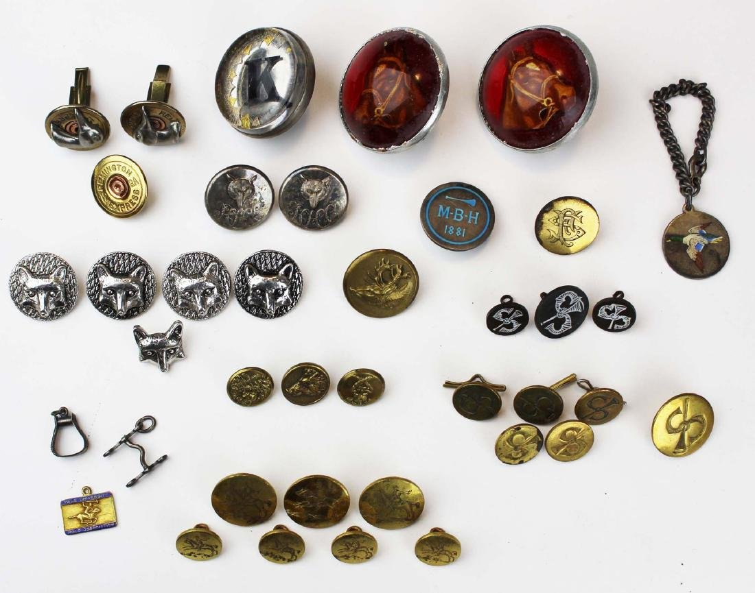 vintage hunt club, polo club, hunting buttons