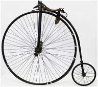 """Circa 1885 The Rudge- """"Penny Farthing"""" bicycle"""