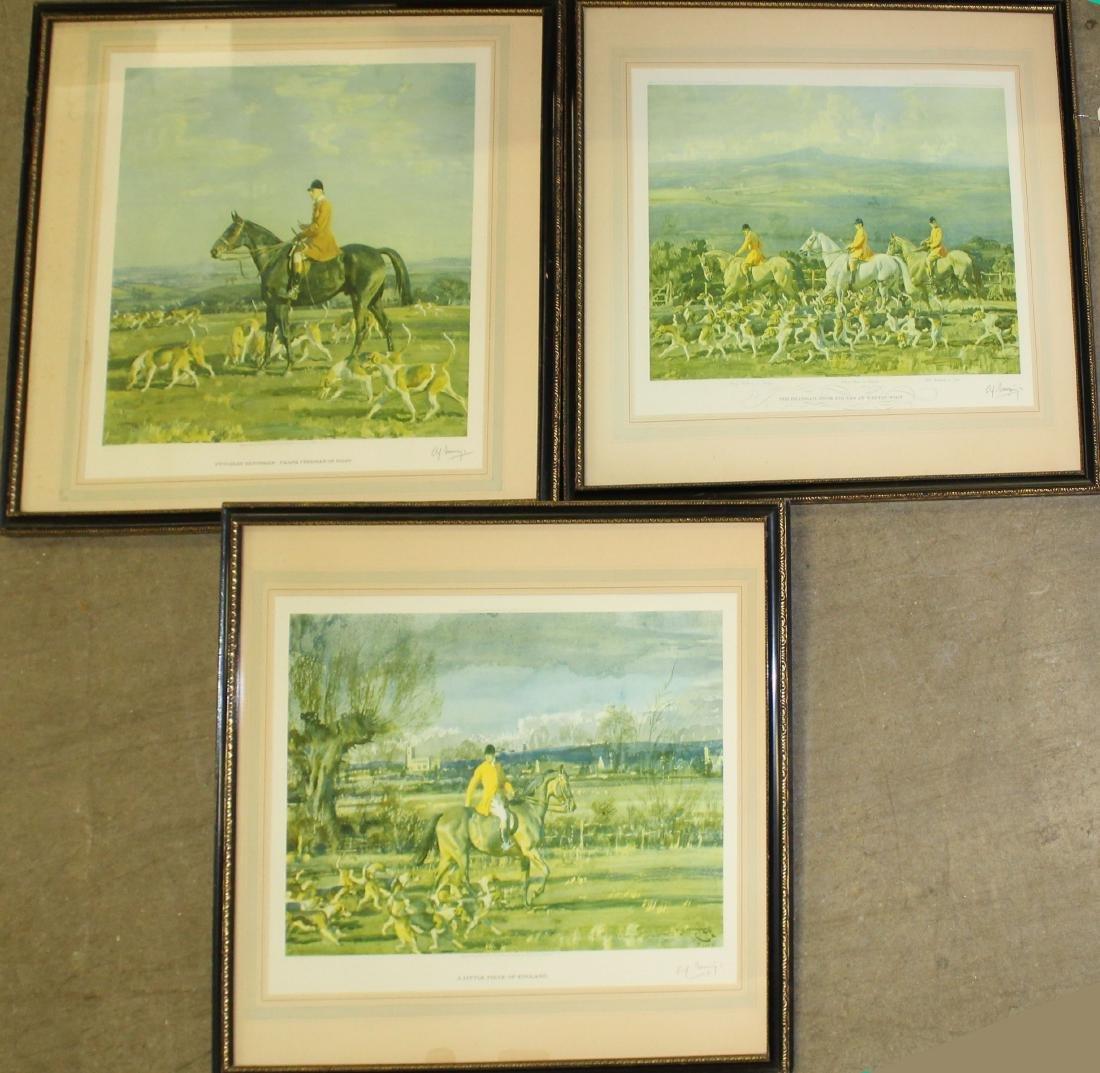 Alfred J Munnings (EN 1878-) Three Prints