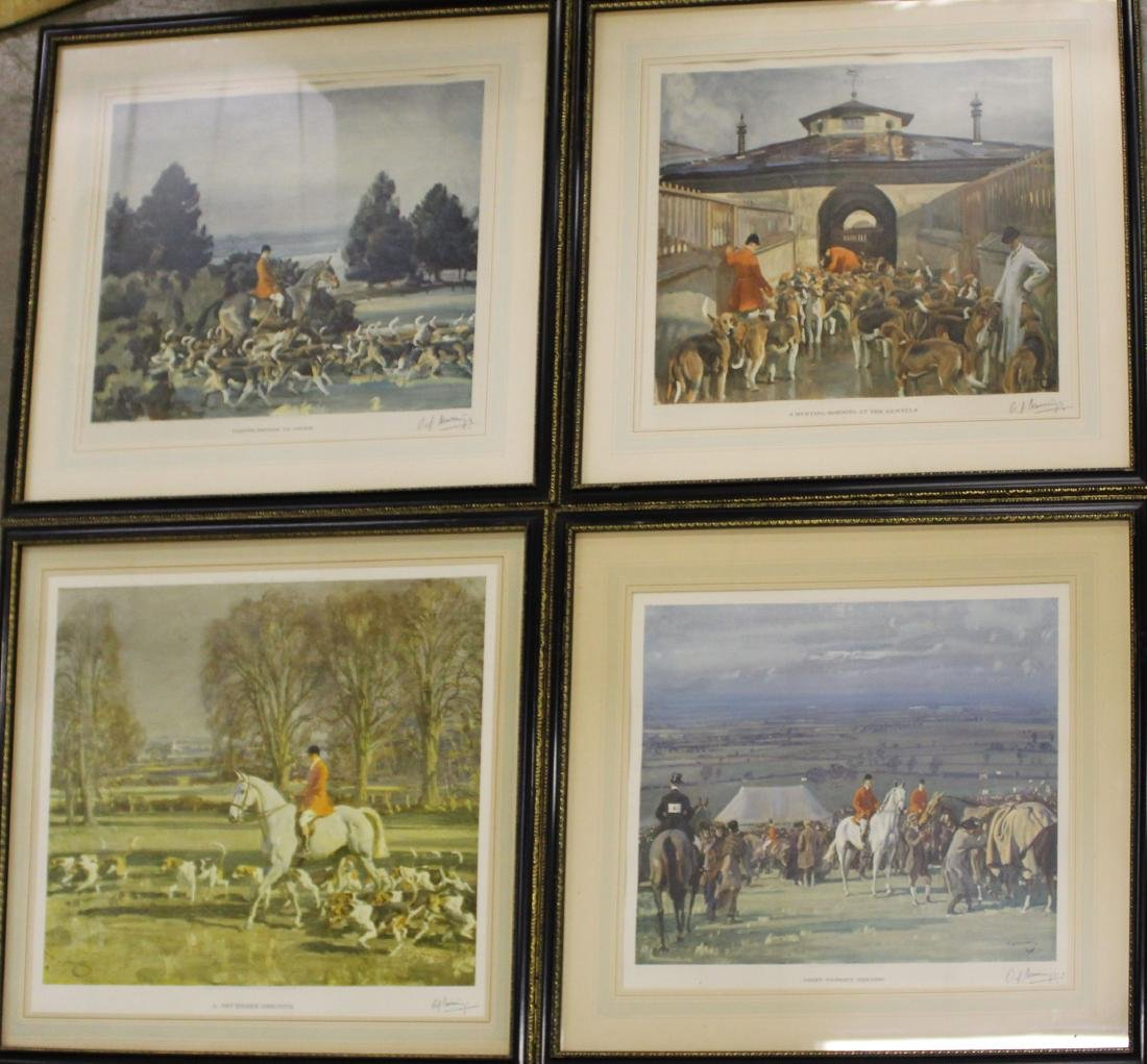 Alfred J Munnings (EN 1878-) Four Prints
