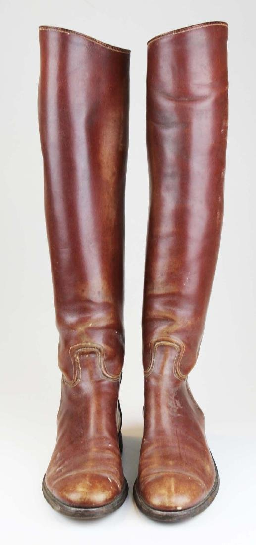 early 20th c cavalry officer's riding boots
