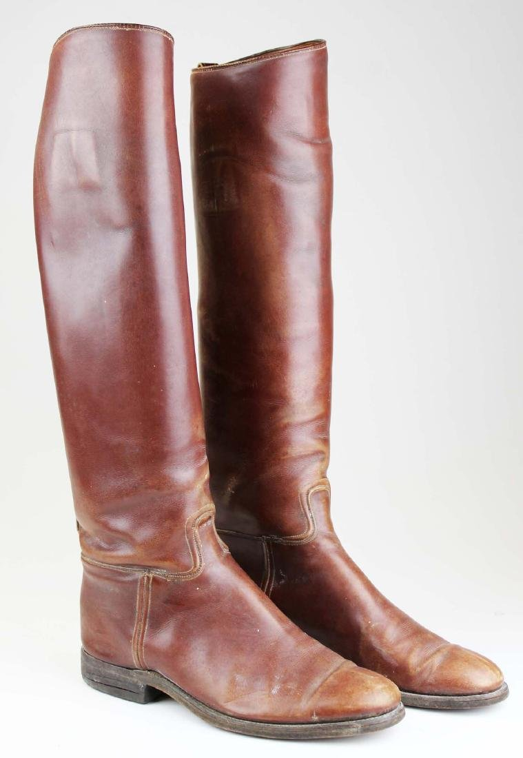early 20th c cavalry officer's riding boots - 2