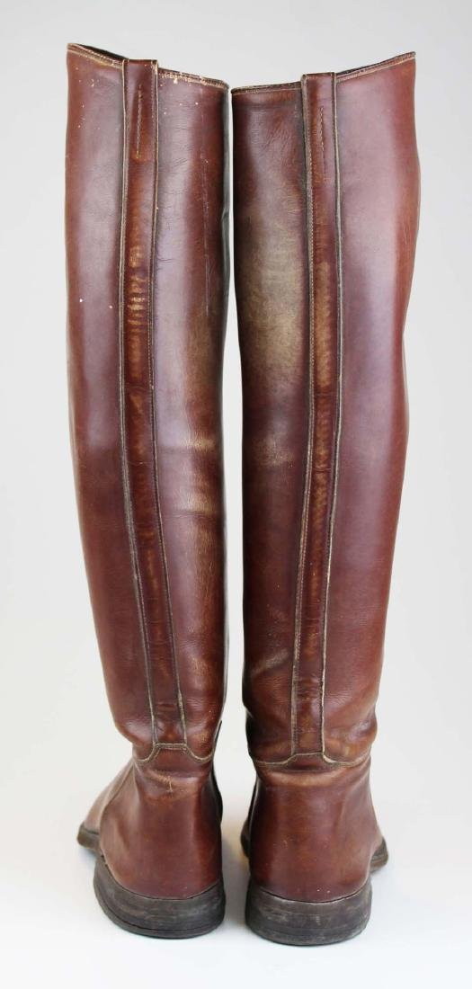 early 20th c cavalry officer's riding boots - 3