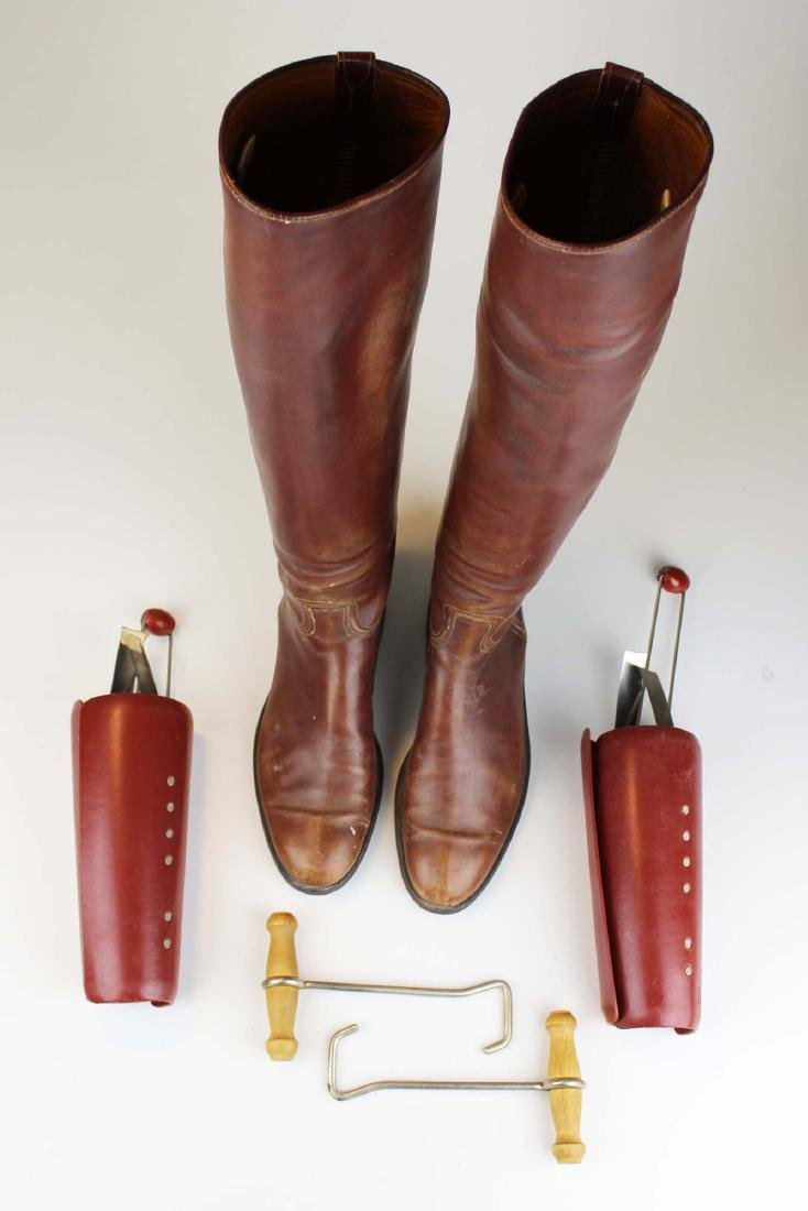 early 20th c cavalry officer's riding boots - 4