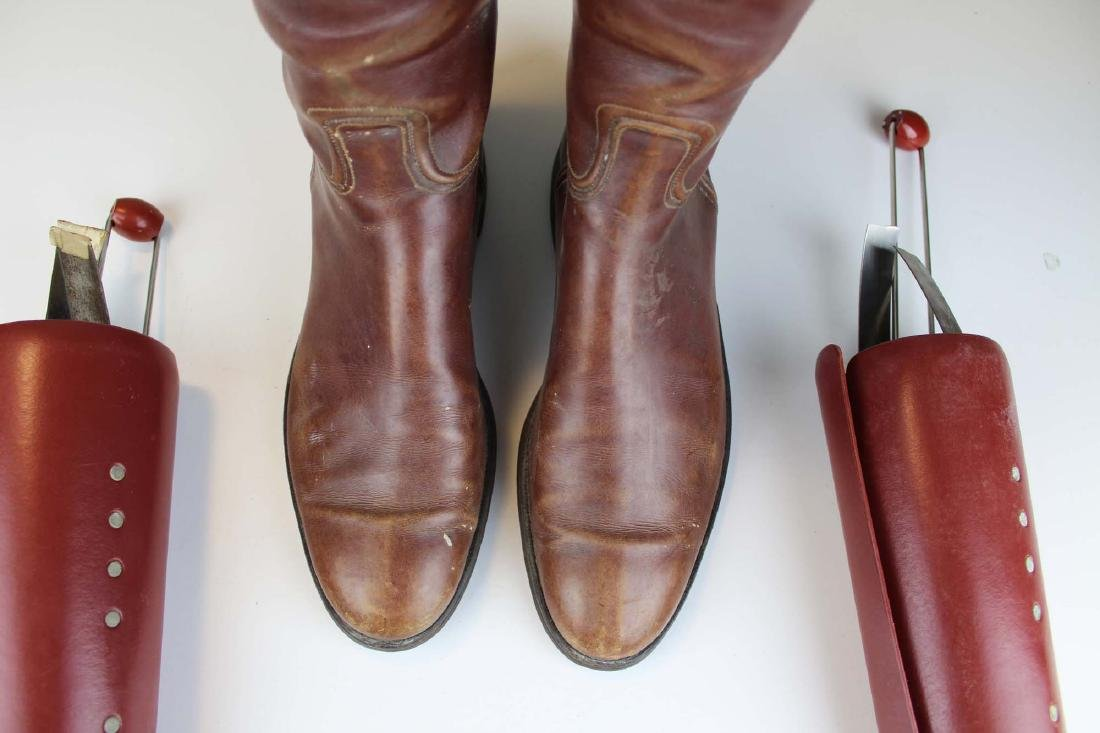 early 20th c cavalry officer's riding boots - 5