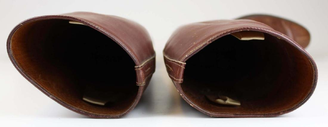 early 20th c cavalry officer's riding boots - 6