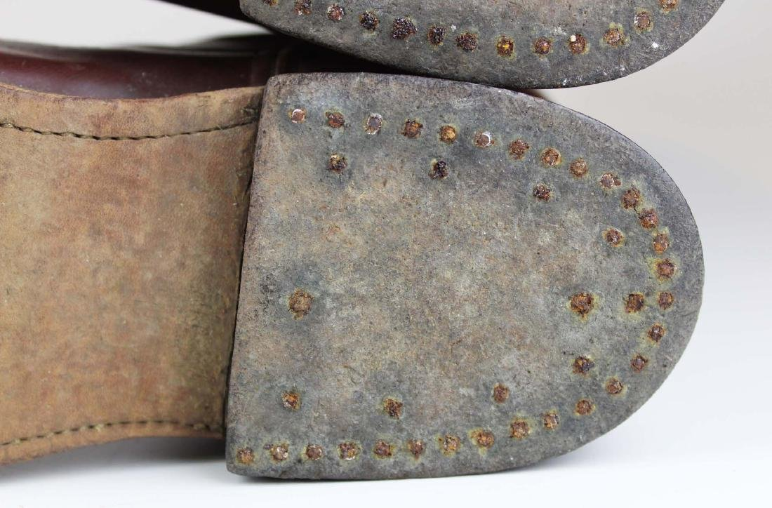early 20th c cavalry officer's riding boots - 8