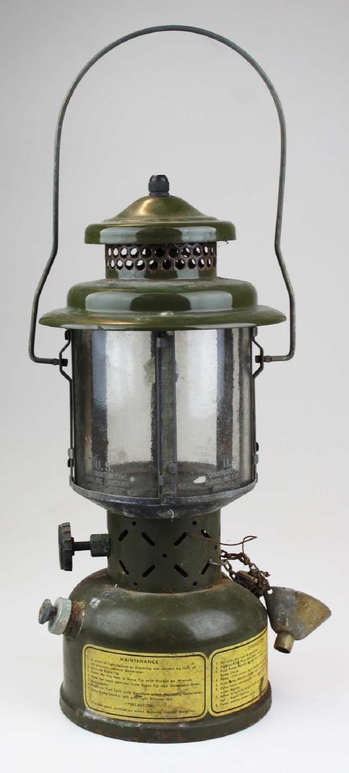 ca 1958 US Army quadrant globe gas lantern