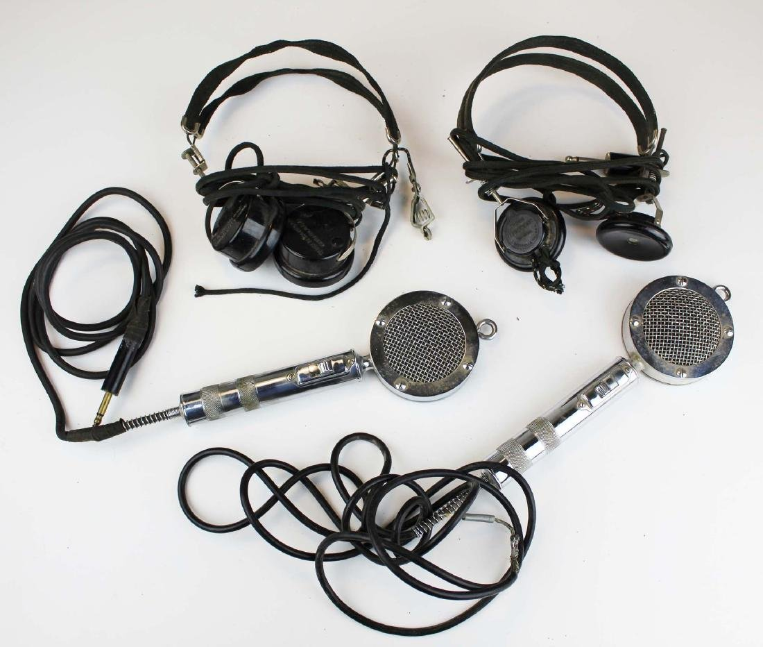 two Trimm headphones & chrome microphones