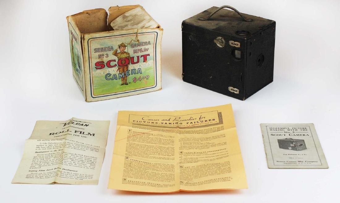 vintage Seneca Scout camera w/ original box