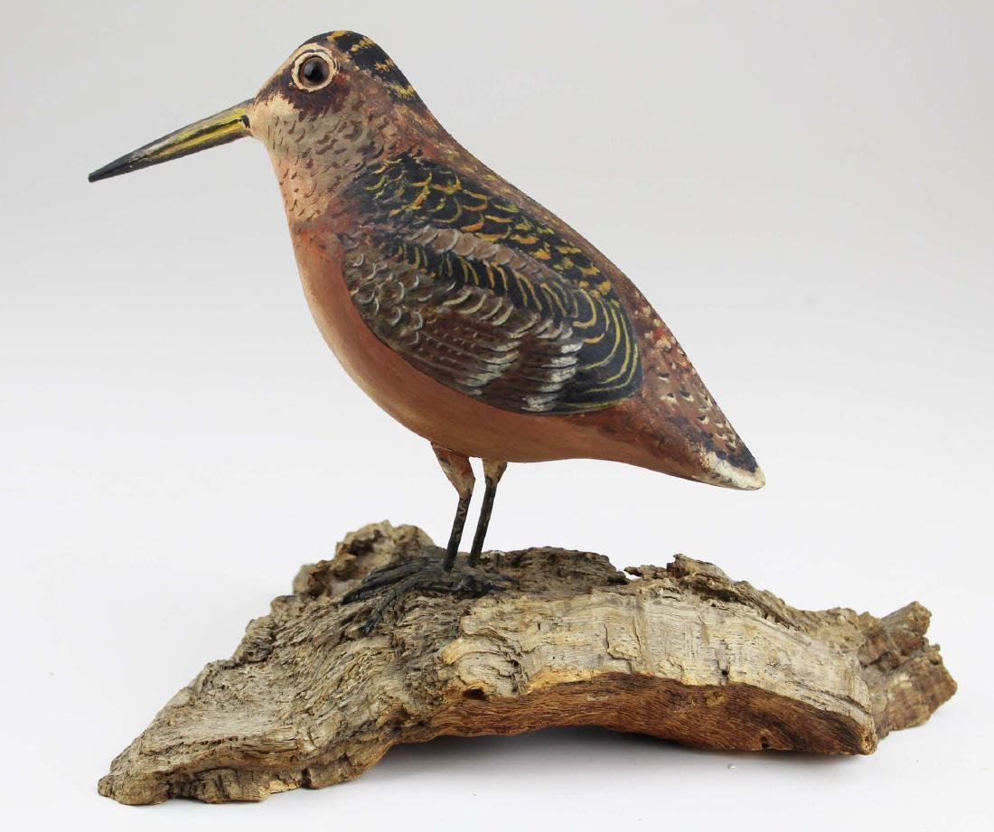 Carved and painted Woodcock R J Jansson Cape Cod