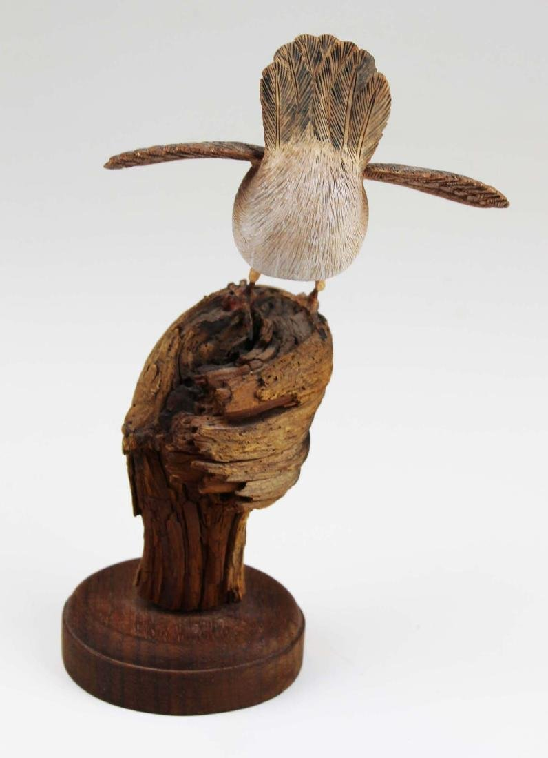 Carved and paint decorated Wren - 5