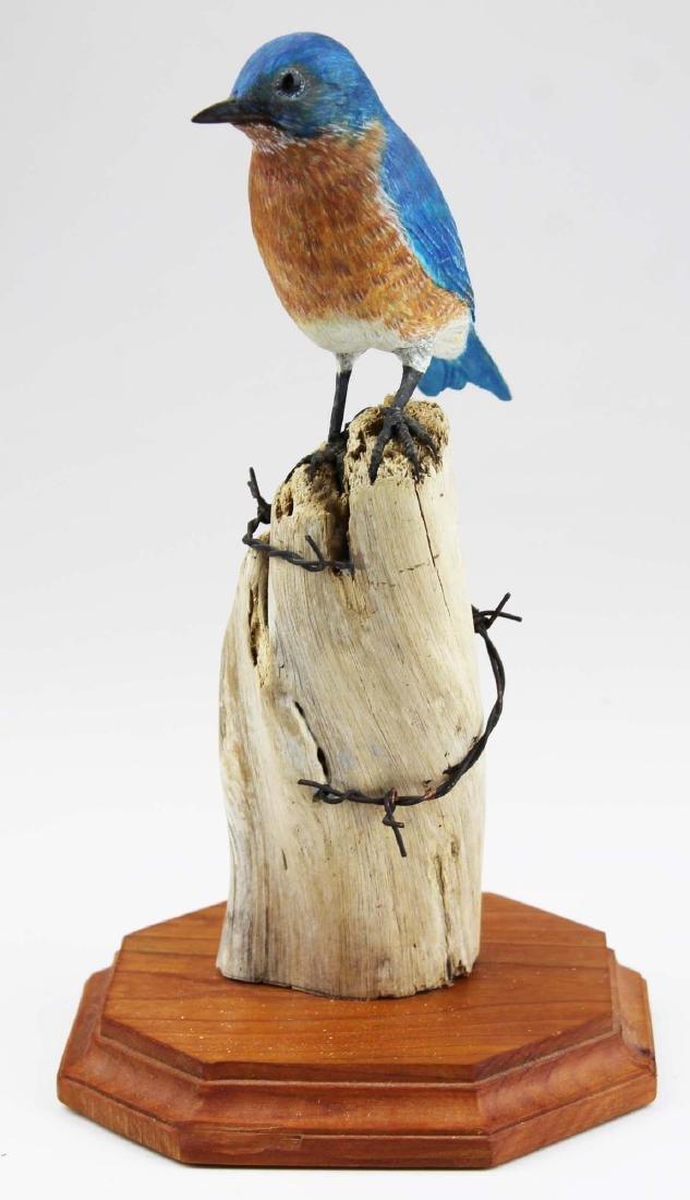 Carved Blue bird signed Turner 2008