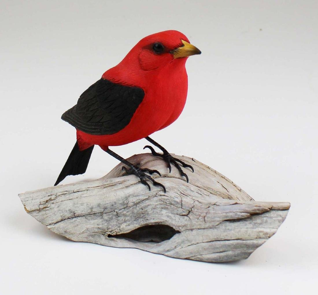 Carved Scarlot Tanager by P Zeller