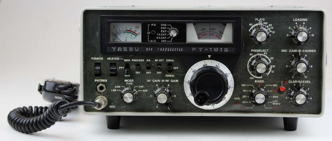 vintage Yaesu FT-101E SSB radio transceiver