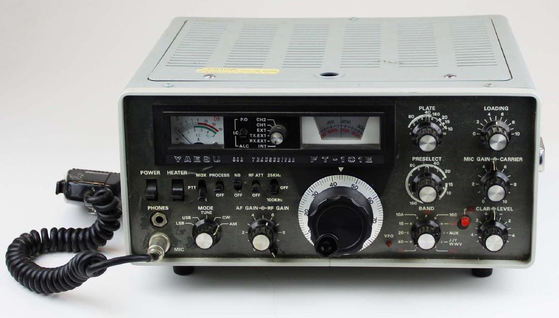 vintage Yaesu FT-101E SSB radio transceiver - 2