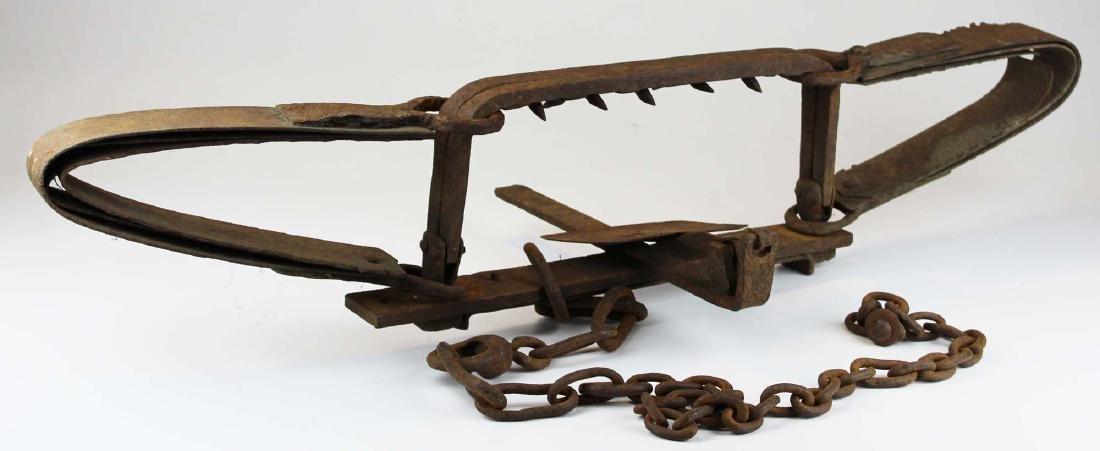 early 20th c steel bear trap