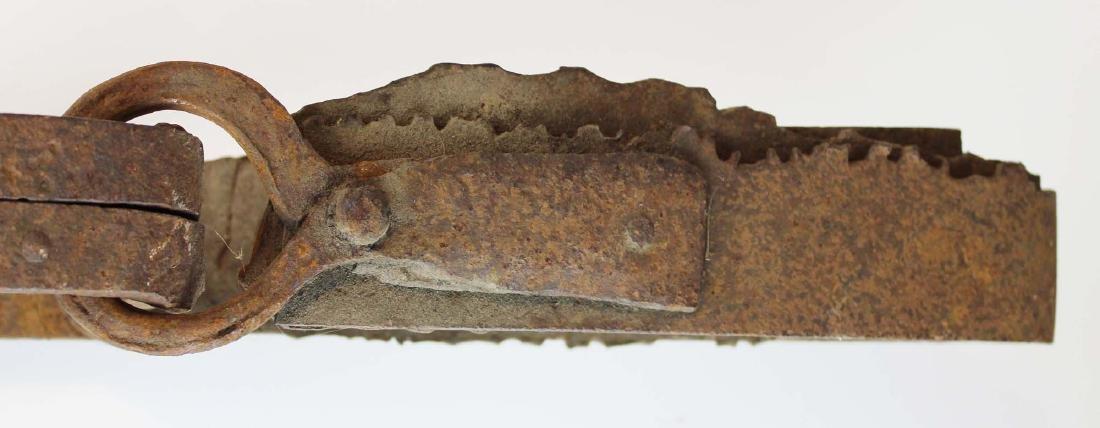 early 20th c steel bear trap - 3