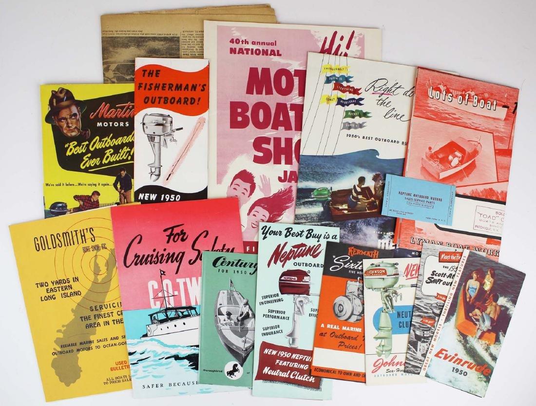 vintage ca 1950 outboard motor pamphlets