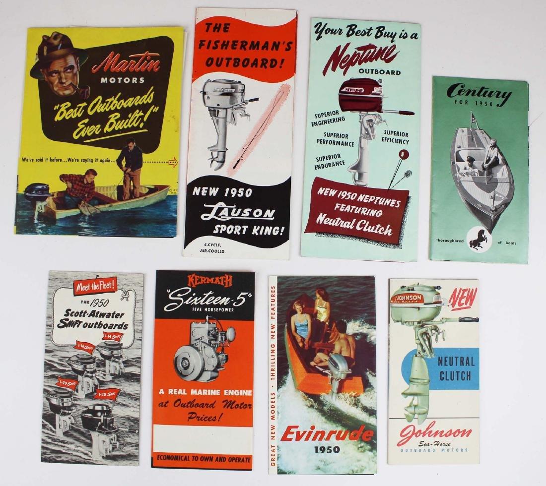 vintage ca 1950 outboard motor pamphlets - 2