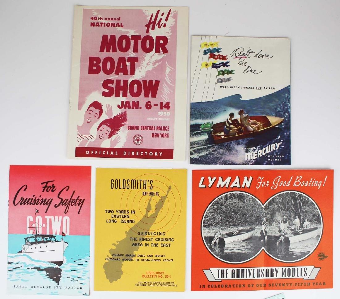 vintage ca 1950 outboard motor pamphlets - 3
