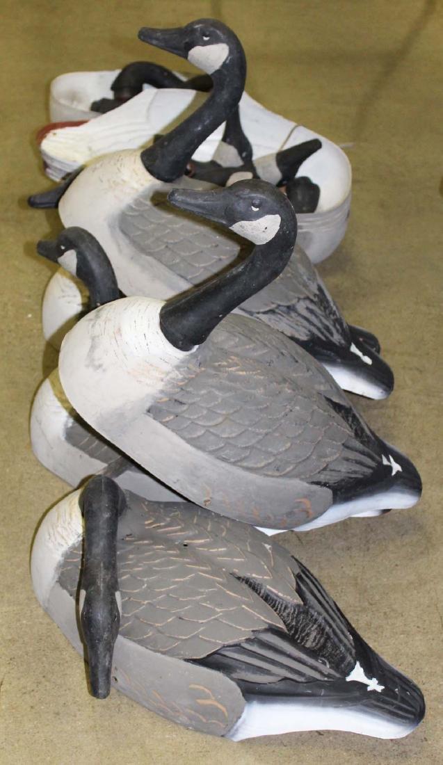 vintage set of 12 Canada Goose field decoys