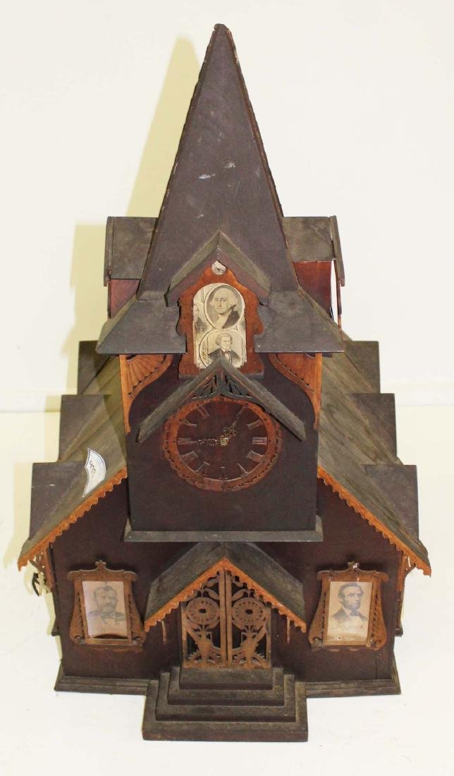 Victorian tramp art country church model
