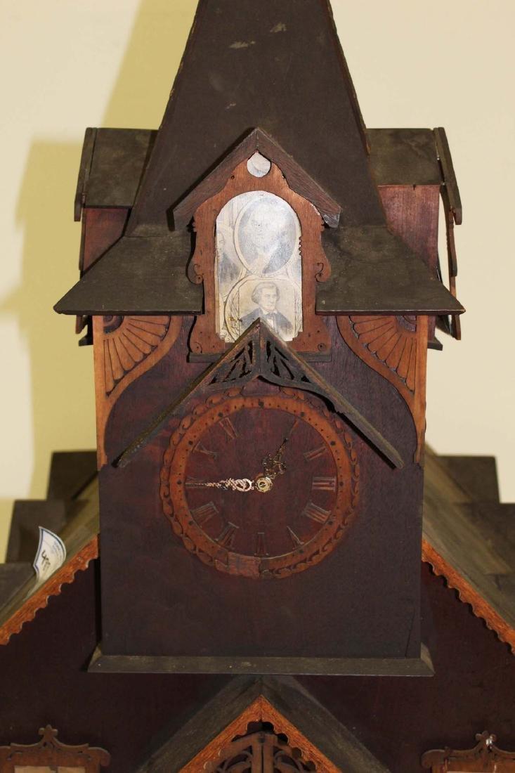 Victorian tramp art country church model - 4