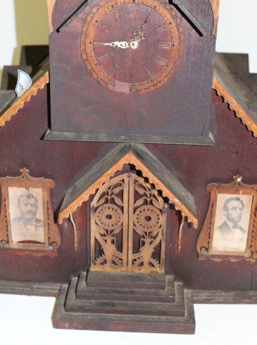 Victorian tramp art country church model - 5