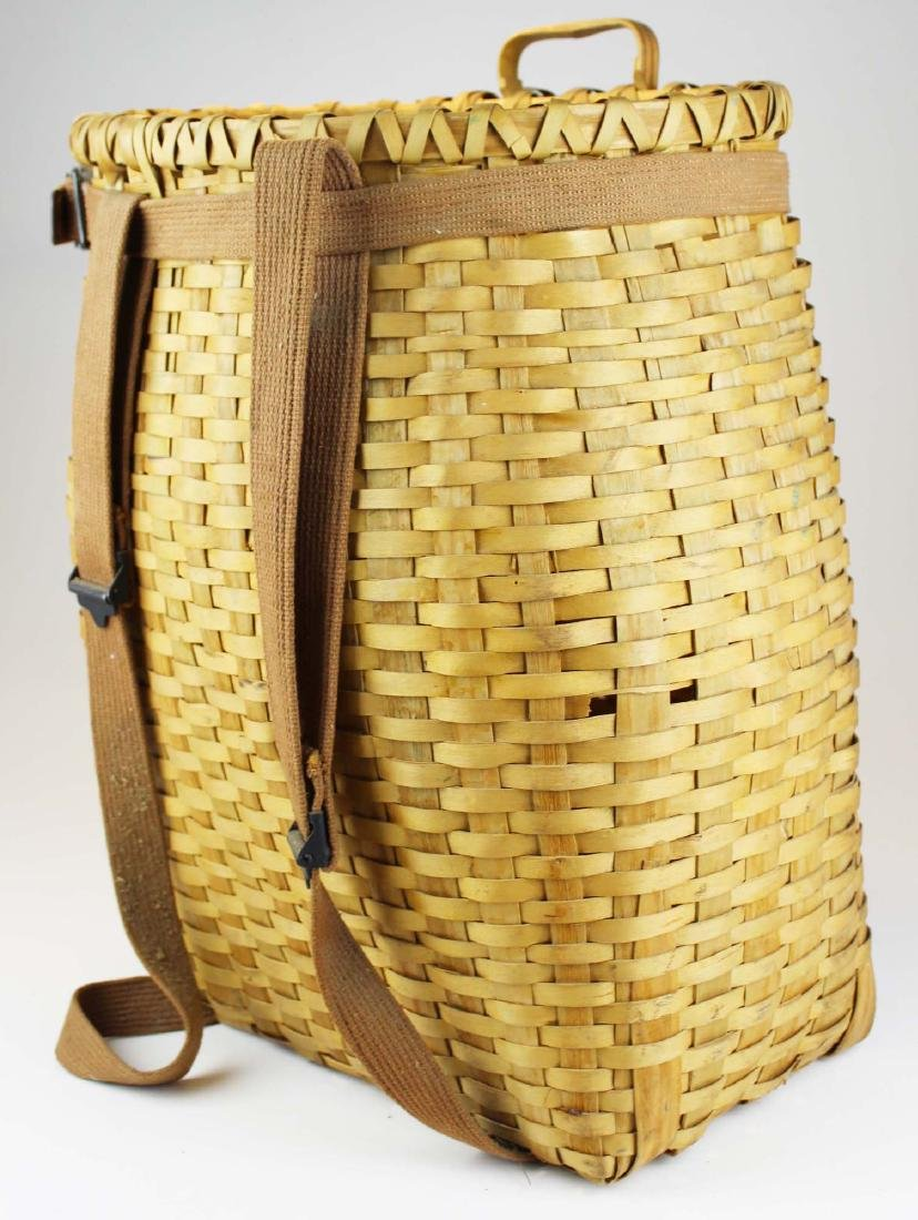 mid 20th c Adirondack pack basket
