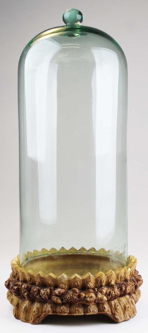 late 19th c aqua soda glass dome