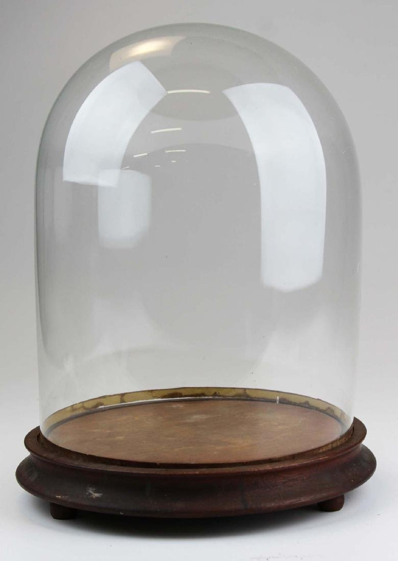 early 20th c clear glass dome