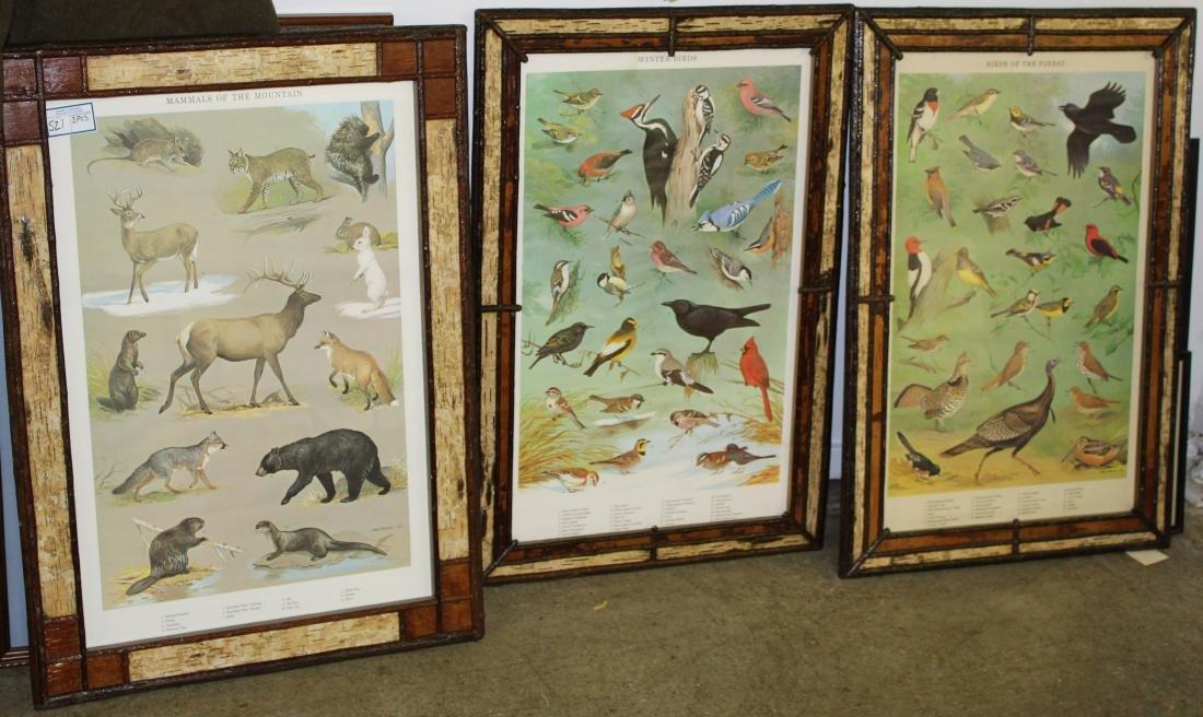 Three Ned Smith Prints in Birch frames