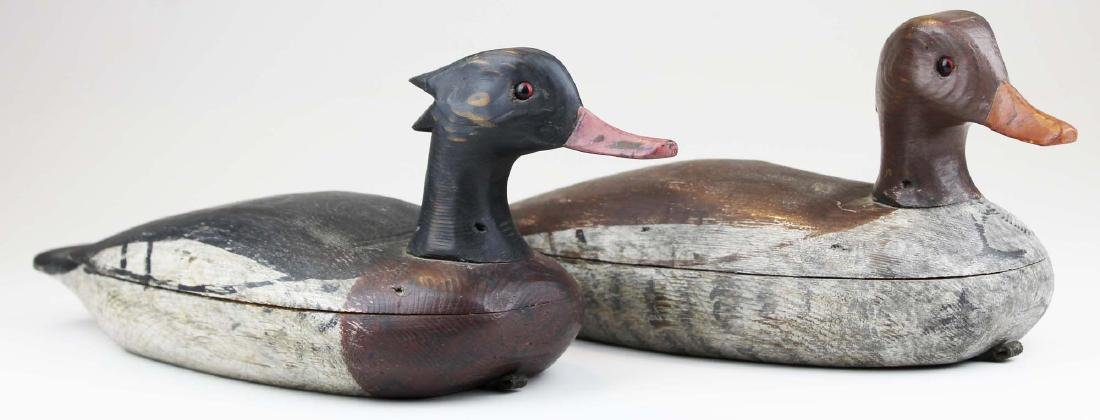 Pair of Merganser decoys