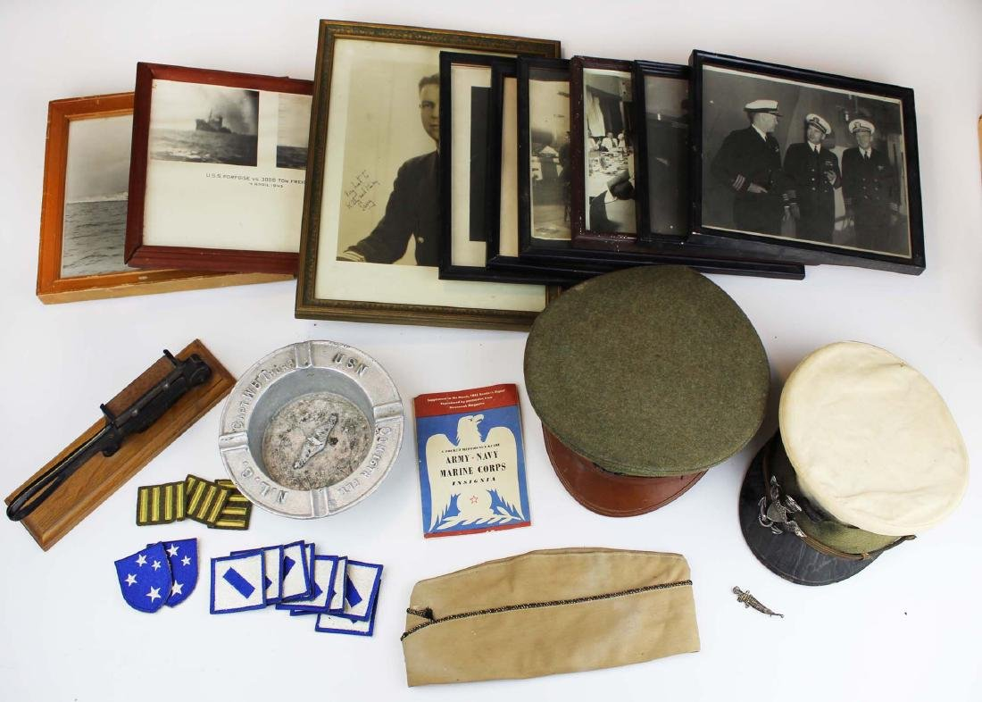 US Navy visor caps, badge, photos, etc. - 2