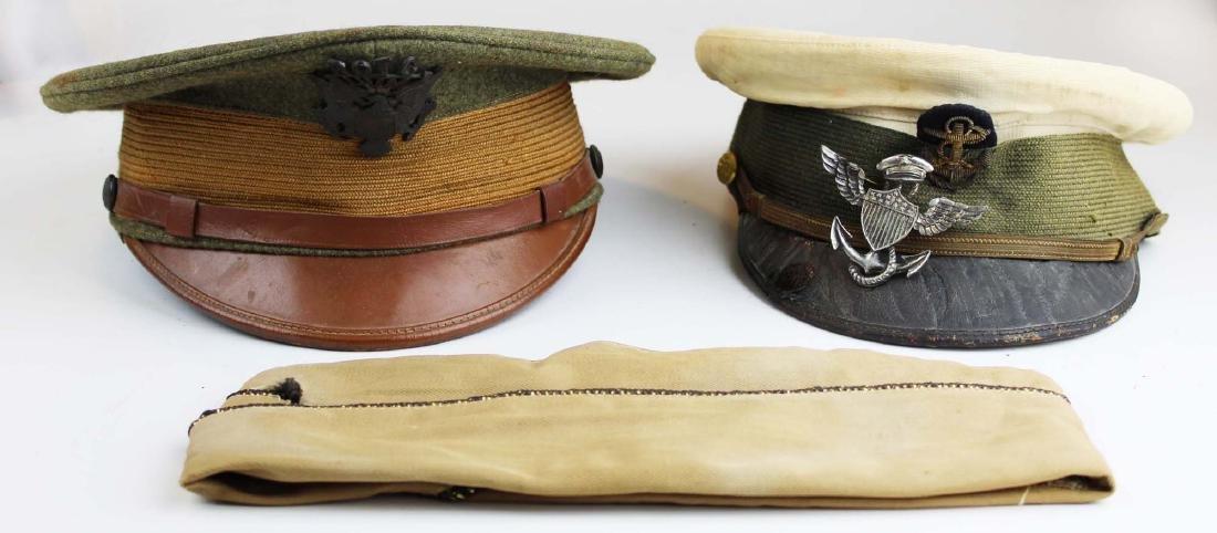 US Navy visor caps, badge, photos, etc. - 8