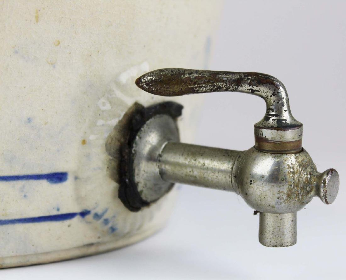 early 20th c stoneware water cooler - 3