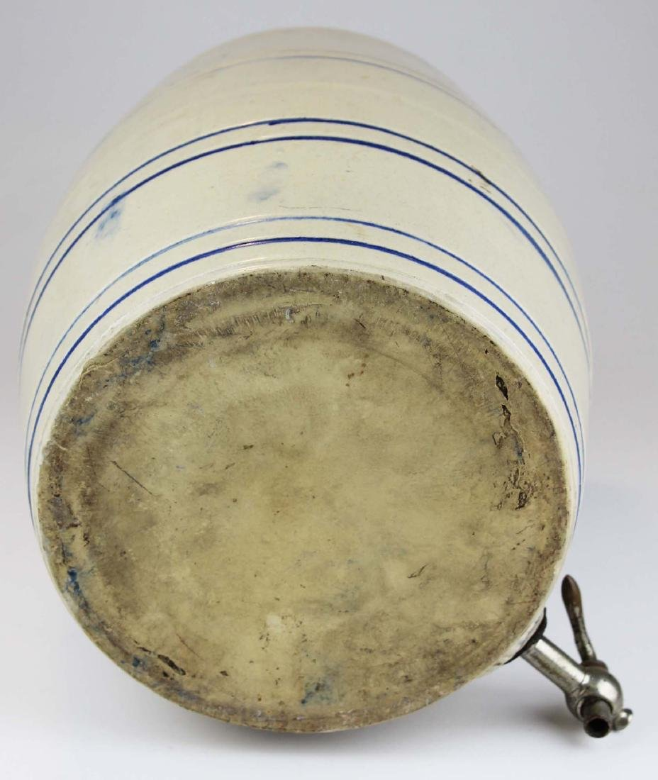 early 20th c stoneware water cooler - 6