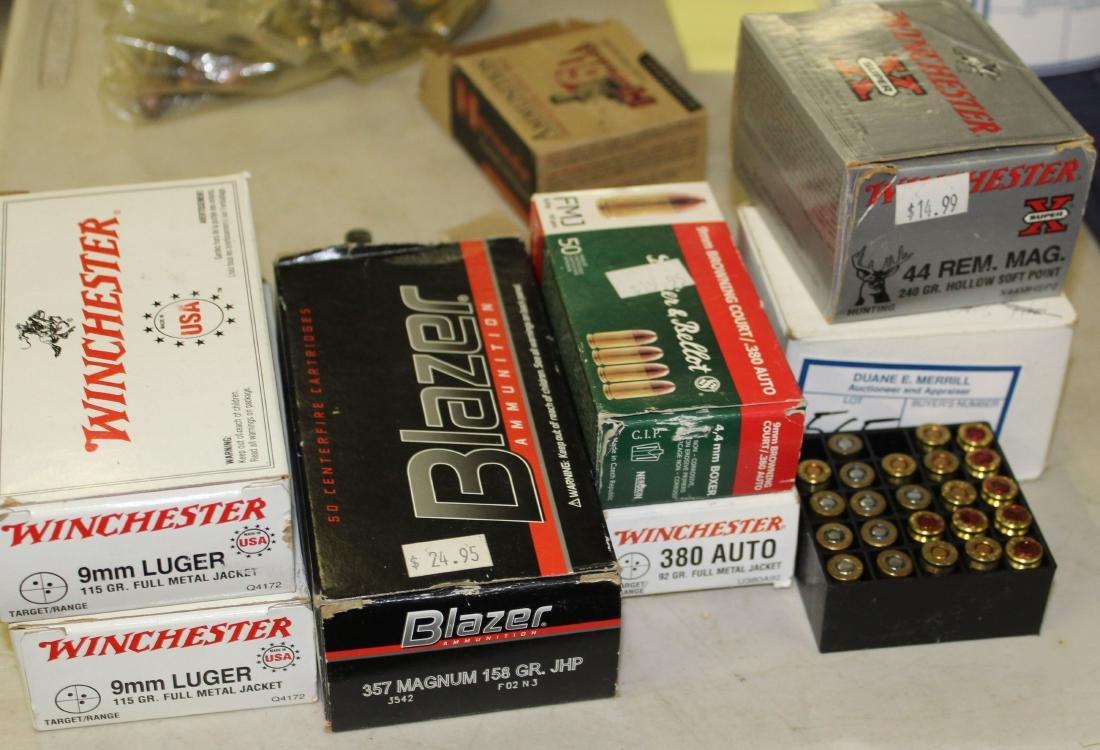 6 partial boxes of handgun ammo