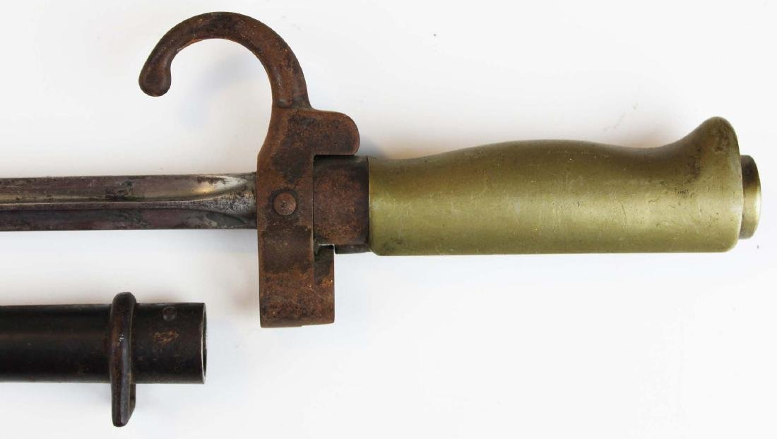 French M1886 Lebel bayonet with scabbard