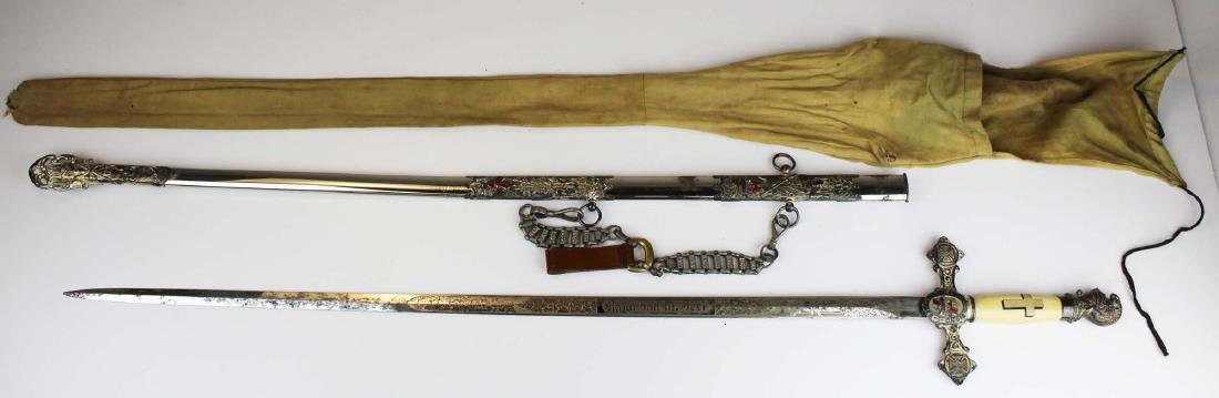 ca 1900 Masonic Scottish Rite fraternal sword - 6