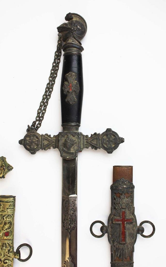 two late 19th c Masonic Scottish Rite swords - 3