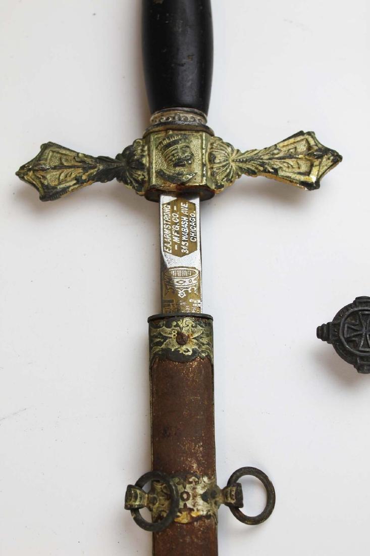 two late 19th c Masonic Scottish Rite swords - 7