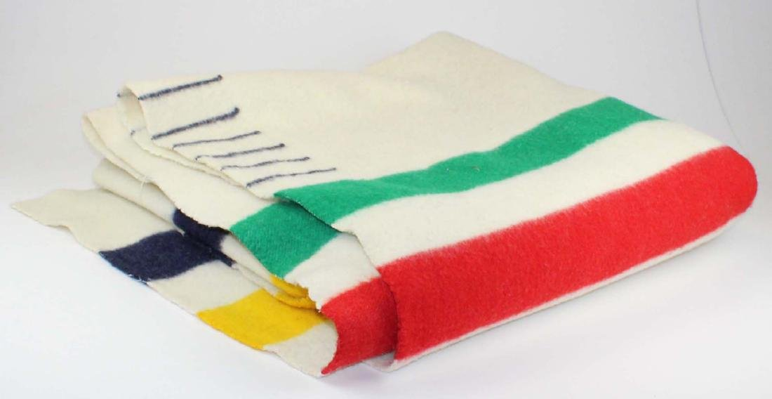 Hudson's Bay colored stripe wool point blanket
