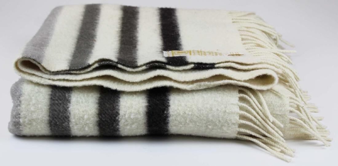 Hudson's Bay Caribou wool throw  blanket