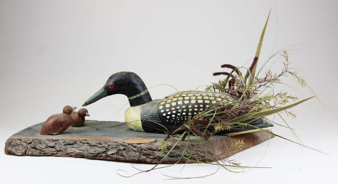 Folk art Loon group by Rupert King Jr - 3